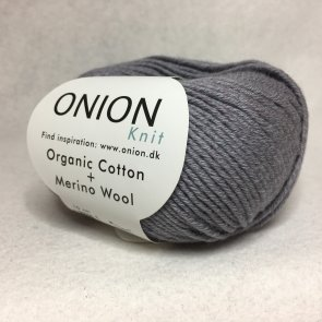 Organic Cotton Merino Wool färg 0709 mellangrå