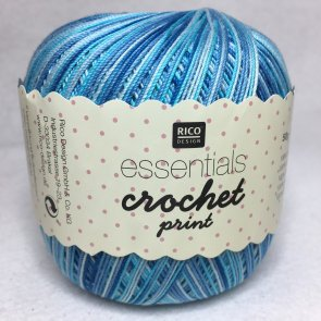 Essentials Crochet print färg 004 turkos/blå