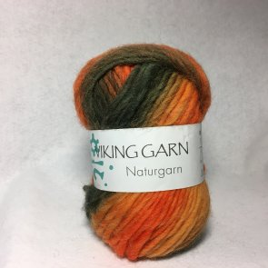 Viking Naturgarn färg 0659 orange/brun/grön