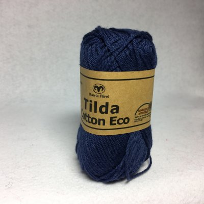 Tilda Cotton Eco färg 0267 marinblå