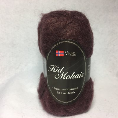 Viking Kid Mohair färg 0955 mörk plommon