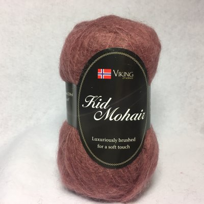 Viking Kid Mohair färg 0958 brunrosa